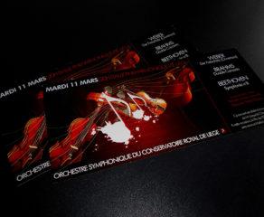 Carton d'invitation - Orchestre Symphonique du Conservatoire Royal de Liège