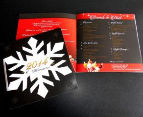 Folder (8 pages) des fêtes de fin d'année - Hotel Van Der Valk Nivelle Sud