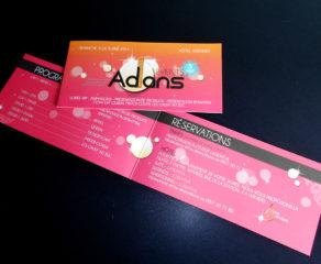 Carton d'invitation pour l'event annuel - Adans & Fils SA