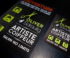Logo, carte de visite et flyer promotionnel d'ouverture - Oliver Sdraulig