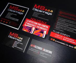 Logo, carte de visite, autocollant et flyer - MS Dépannage SPRL